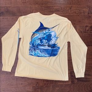 Guy Harvey Pastel Yellow LS Tee